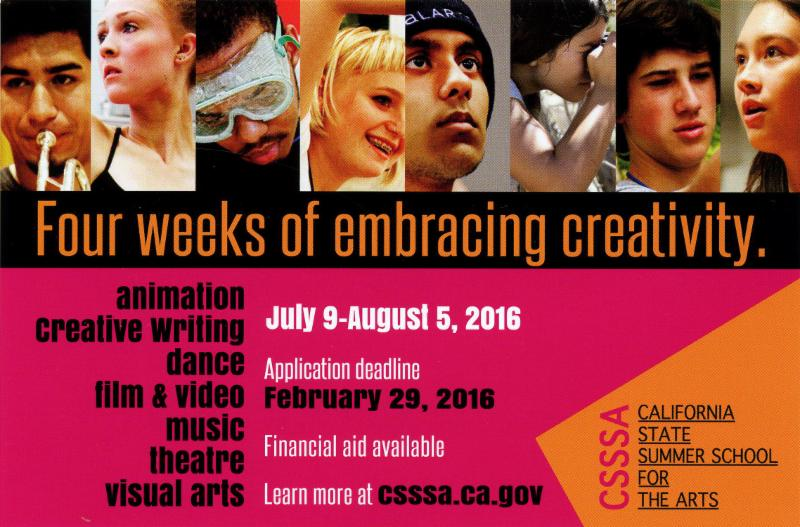 California State Summer School for the Arts taking applications through Feb. 29
