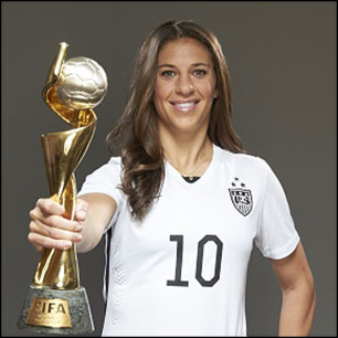 'An Evening with 2015 Women's World Cup Champion Carli Lloyd' to be held at Arlington Theatre on Jan. 26