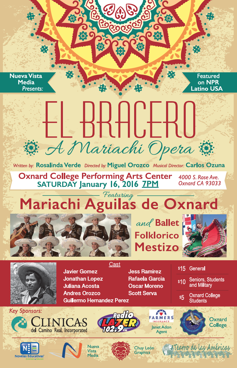 'El Bracero – A Mariachi Opera' to be presented at Oxnard College on Jan. 16