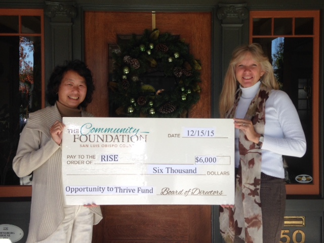 RISE Receives Grant from The Community Foundation SLO County