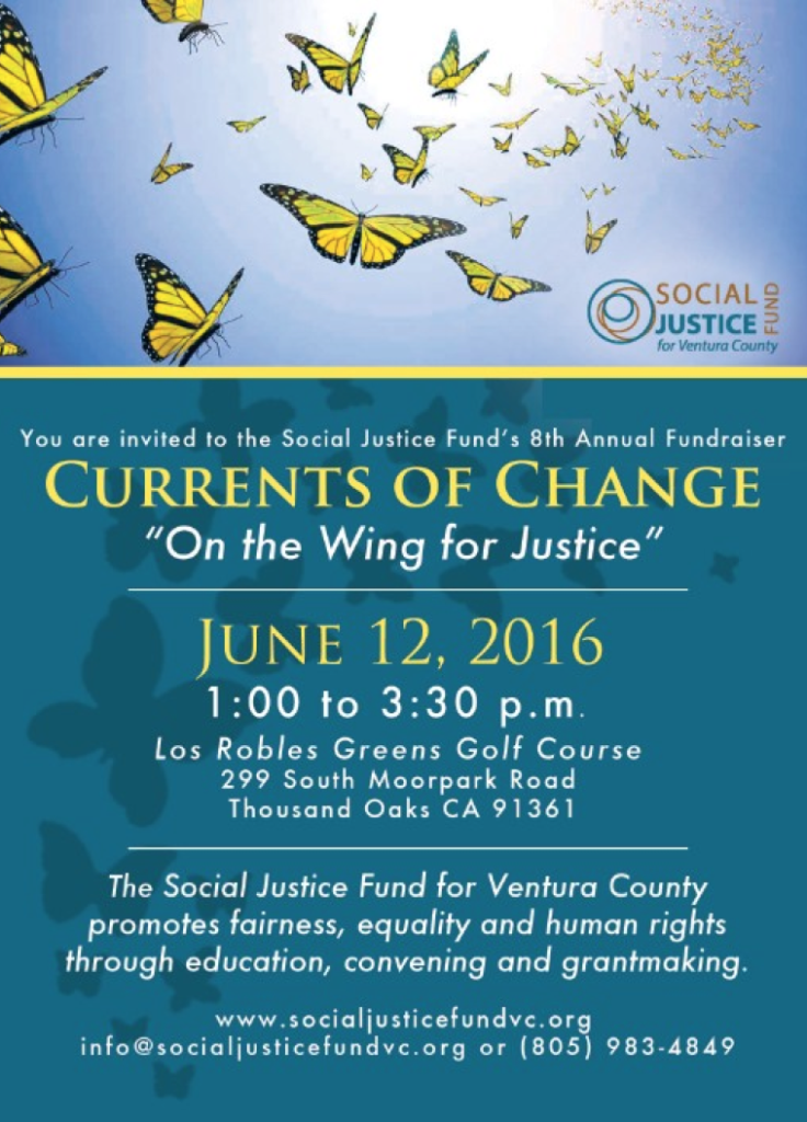 Social Justice Fund for Ventura County to present 'Currents of Change' fundraiser on June 12