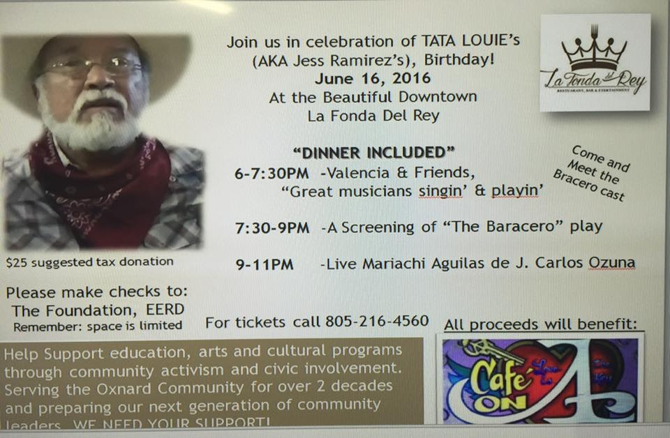 Jess Ramirez Birthday Fiesta and Fundraiser for the Café on A on June 16