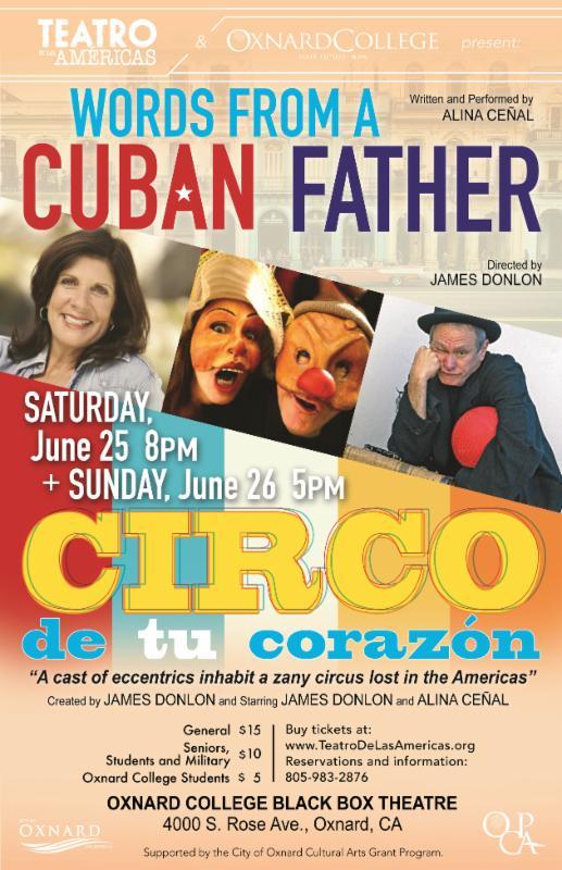 Teatro de las Américas to present 'Words From A Cuban Father' and 'Circo de tu corazón' June 25, 26