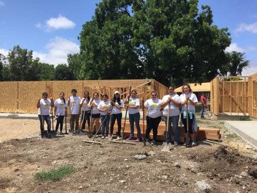 PSHH College Club lends homebuilders a hand for NeighborWorks Week 2016