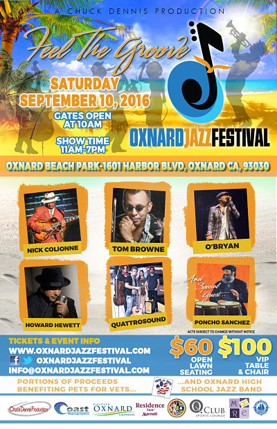 Inaugural Oxnard Jazz Festival to be held Sept. 10