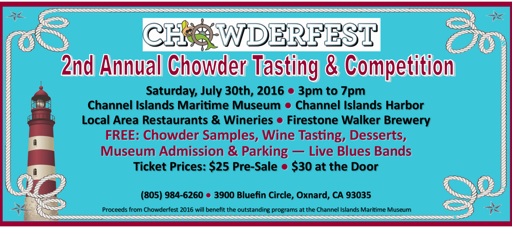 Channel Islands Harbor to present Chowderfest 2016 on July 30