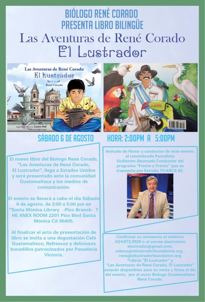 Biólogo René Corado de Oxnard presenta libro bilingüe 'Las Aventuras de René Corado El Lustrador' el 6 de agosto en Santa Mónica