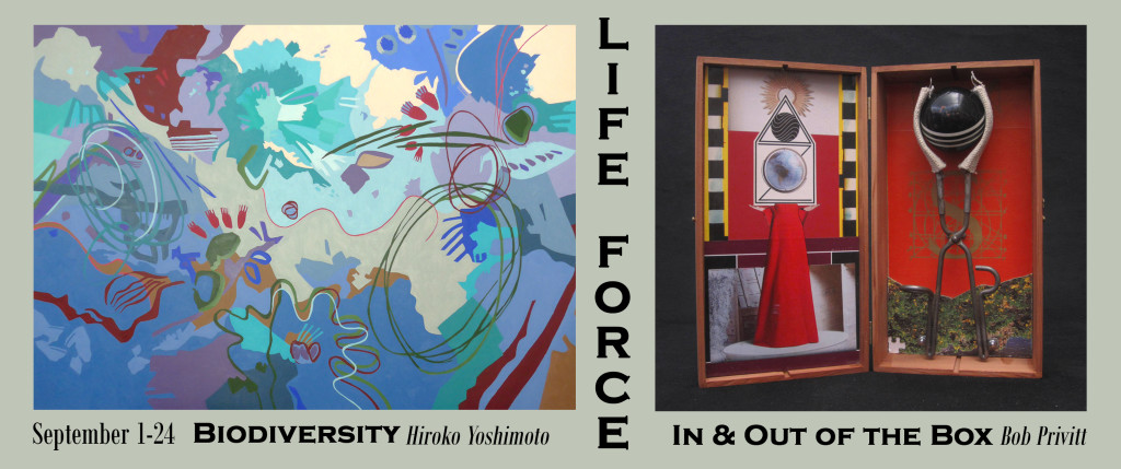 """'Life Force,"""" an exhibit of the artwork of Hiroko Yoshimoto & Bob Privitt to be held through Sept. 24 at Studio Channel Islands"""