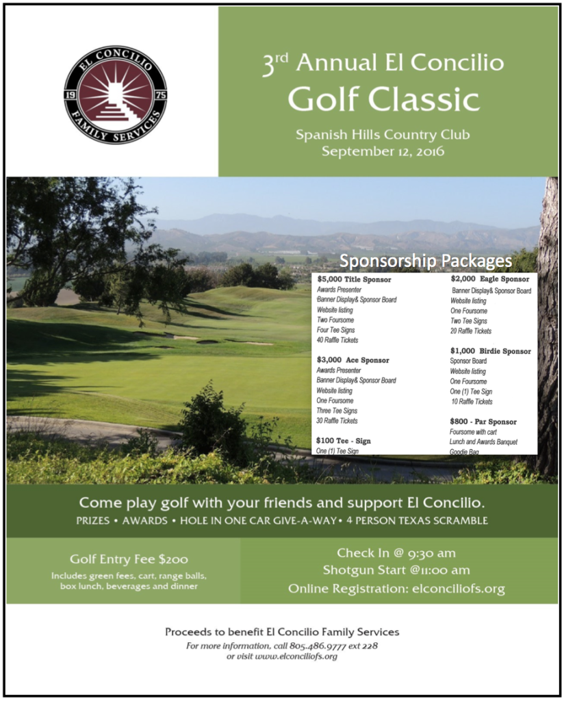3rd annual El Concilio Golf Classic to be held at Spanish Hills Country Club on Sept. 12