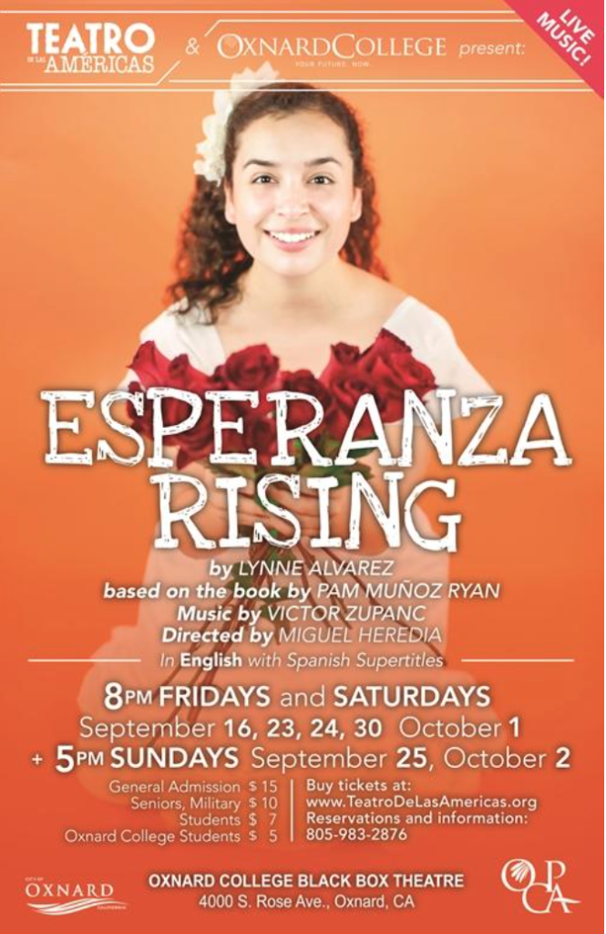 Last weekend: Teatro de las Américas to present 'Esperanza Rising' Sept. 30 through Oct. 2