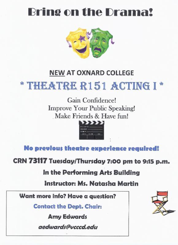 Teatro de las Américas reports Drama Department Returning to Oxnard College