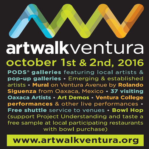 Ventura's historic Downtown and Westside Cultural District to celebrate works of hundreds of regional artists for annual ArtWalk Ventura, Oct. 1-2