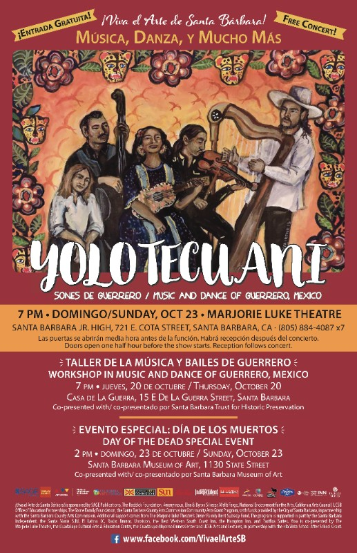 Marjorie Luke Theater announces Yolotecuani to perform on Oct. 23