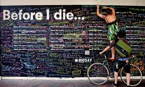 Santa Barbara Museum of Art to present 'Before I Die' wall through Oct. 23