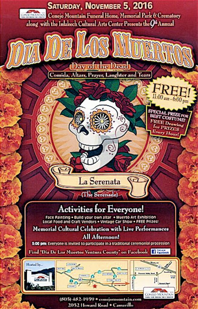 2016 Día de los Muertos Celebracion to be held Nov. 5 in Camarillo