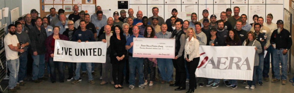 Aera Energy celebrates Giving Tuesday with a check to the United Way of Ventura County