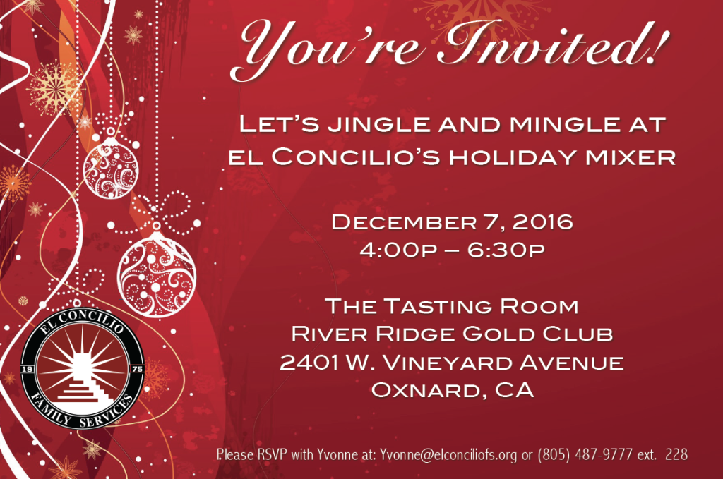 El Concilio Family Services to hold Holiday Mixer on Dec. 7