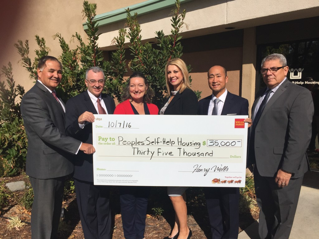 Wells Fargo Donates $35,000 to PSHH in Support of Affordable Housing