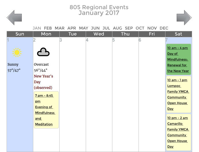 VIEW, SUBMIT 805 REGIONAL EVENTS