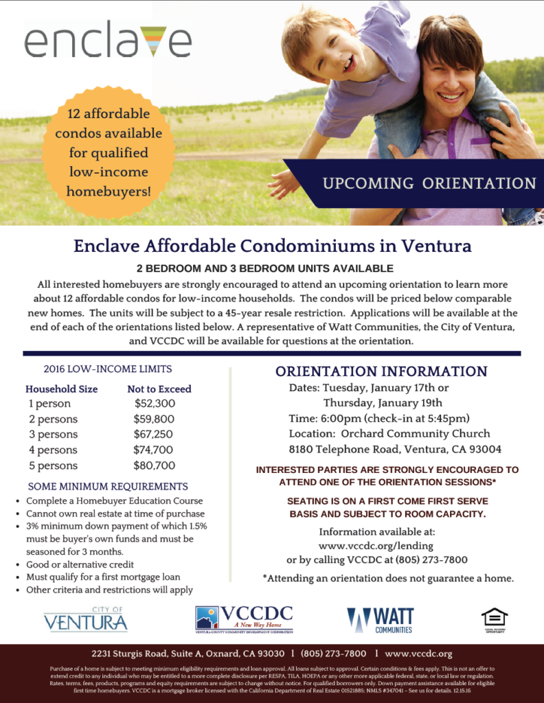 Bilingual report: VCCDC Partners with City of Ventura for the Sale of 12 Affordable Condos for Low-Income Families