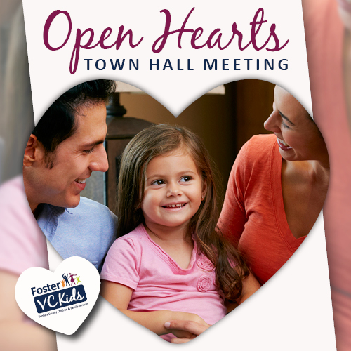Feb. 25 — Foster VC Kids to hold Open Hearts Town Hall Meeting in Oxnard