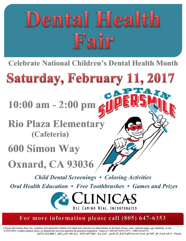 Bilingual report: Clinicas del Camino Real Inc. hosting Dental Health Fair on Feb. 11 in honor of National Children's Dental Health Month