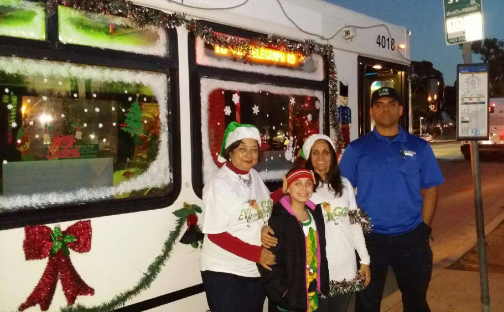 Gold Coast Transit District staff brought holiday cheer to the bus this season