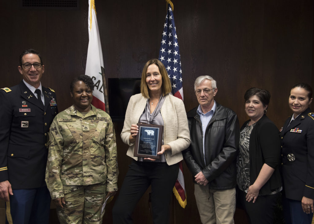 "Assemblymember Irwin received the ""Golden Bear Award"" from the California Enlisted Association of the National Guard (CAL EANGUS)"
