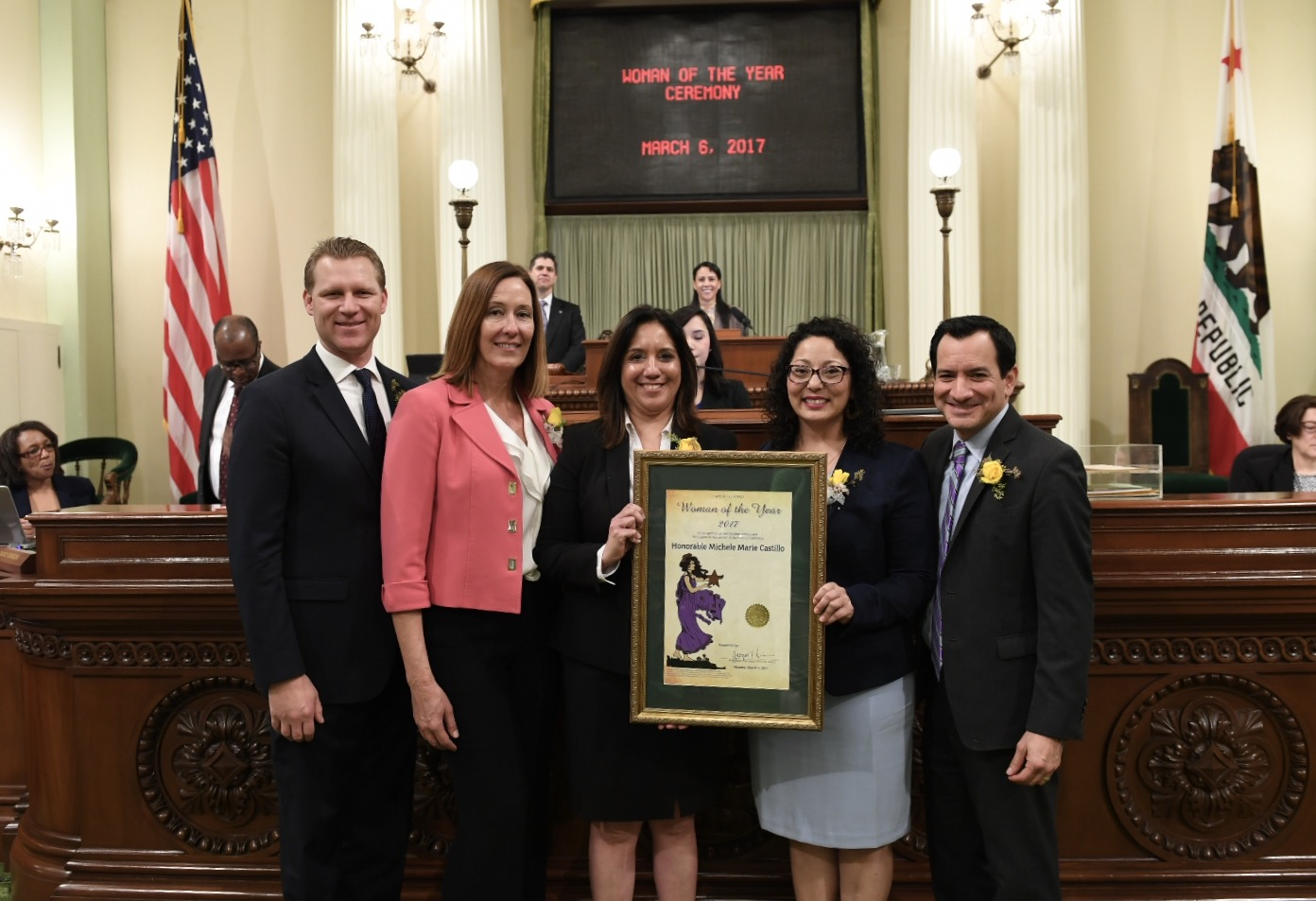 Assemblymember Irwin Honors Ventura County Superior Court Judge Michele Castillo as 2017 Woman of the Year