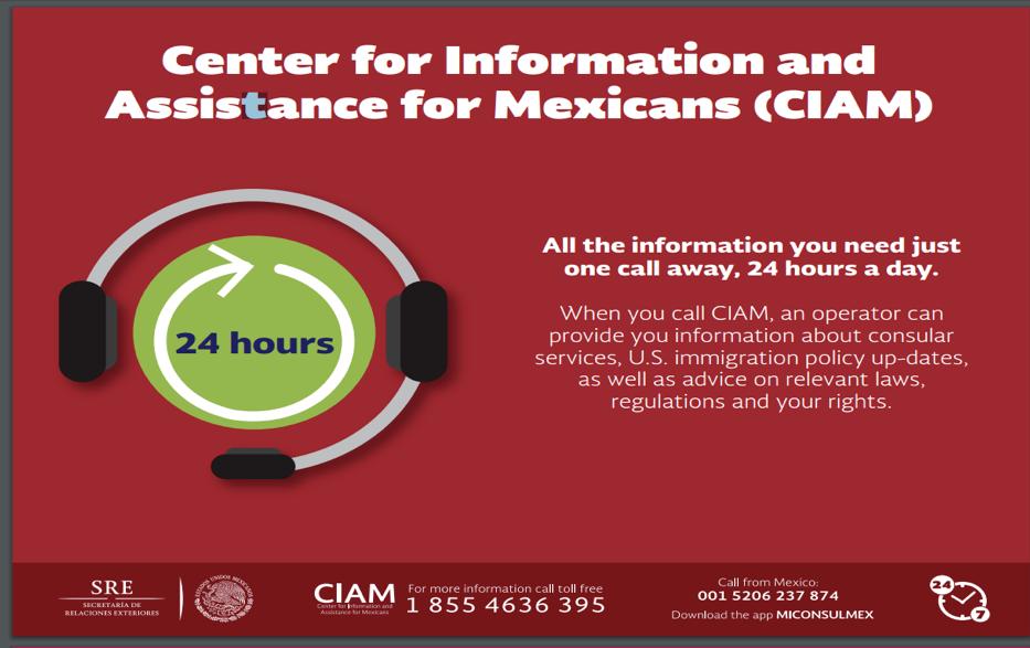 Anuncios del Consulado de México en Oxnard