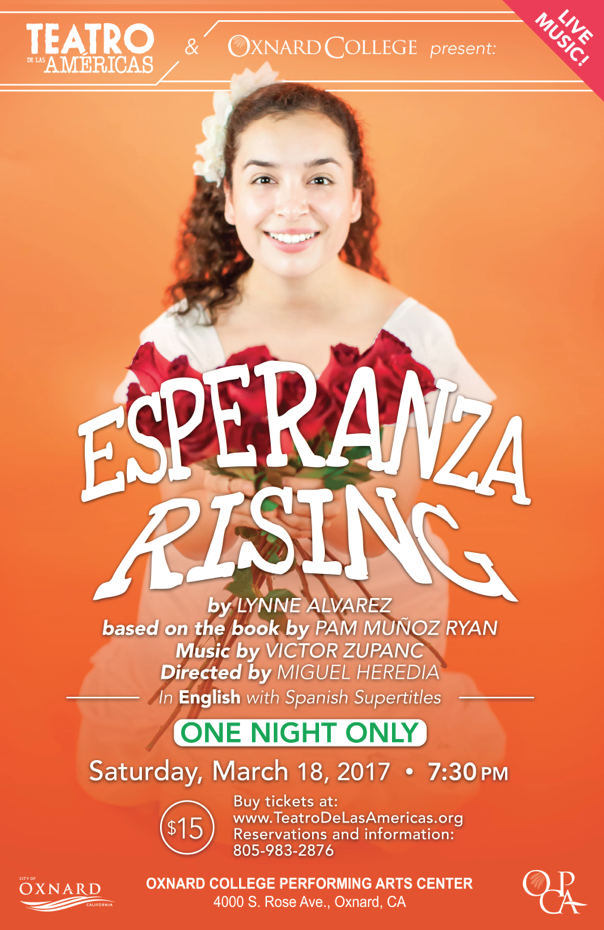 March 18 — Teatro de las Américas to present for one night only 'Esperanza Rising'
