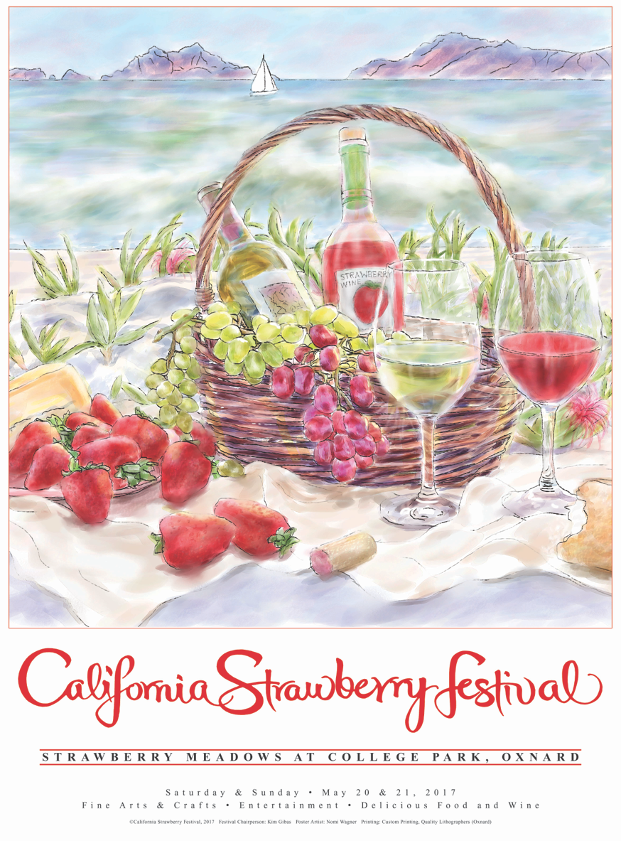 Nomi Wagner wins 34th annual California Strawberry Festival Official Poster Contest