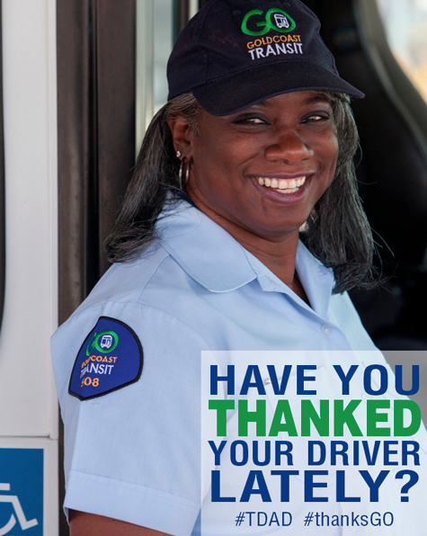 Gold Coast Transit District Says THANKS on Transit Driver Appreciation Day on March 17