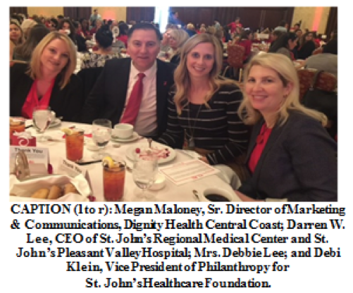 Ventura County Go Red For Women Luncheon Raises Awareness About Women and Cardiovascular Disease