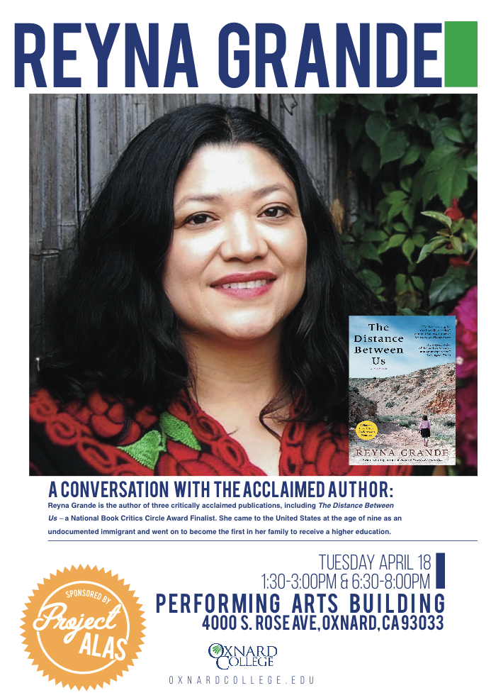 April 18 — Author Reyna Grande to speak at Oxnard College