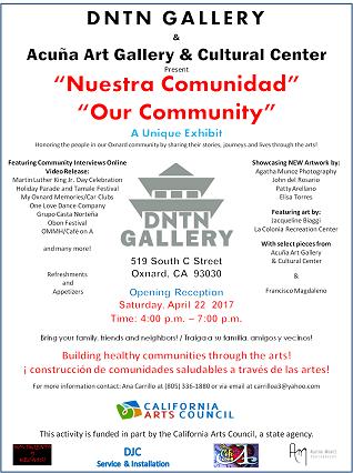 April 22 — Nuestra Comunidad / Our Community A Unique Art Exhibit