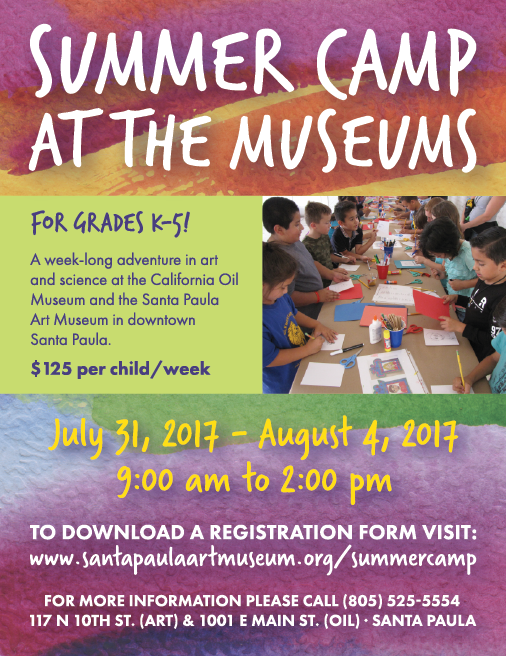 Summer Camp at Santa Paula Museums (July 31 through Aug. 4) Offers Adventure in Art and Science