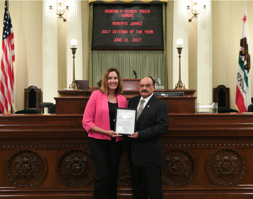 Assemblymember Irwin Honors Roberto S. Juarez as Veteran of the Year