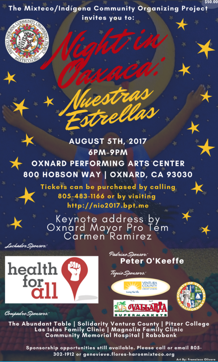 Aug. 5 — Mixteco/Indígena Community Organizing Project (MICOP) to present annual 'Night in Oaxaca'