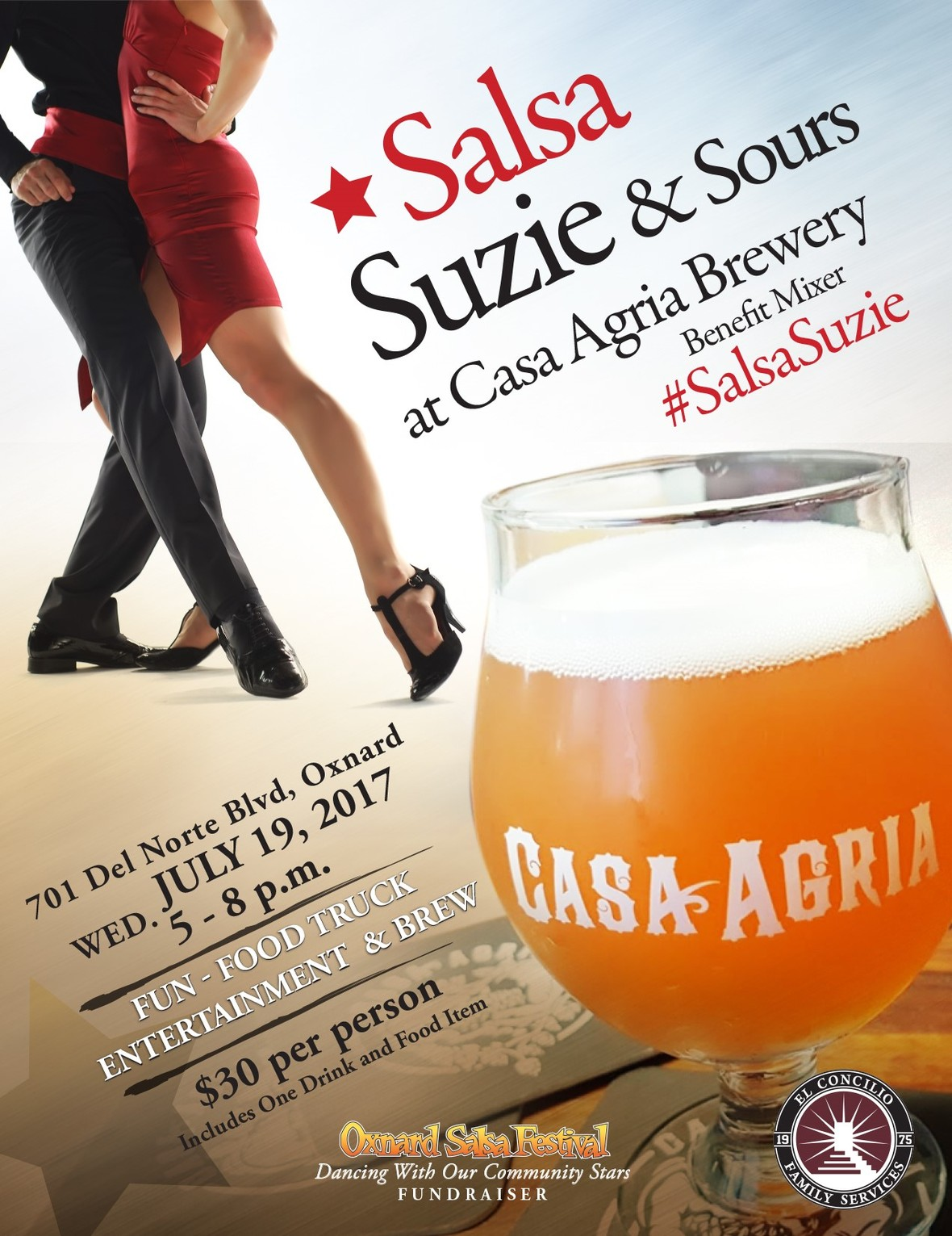 July 19 — Dancing with our Community Stars Pre-Event — Salsa Suzie & Sours Benefit Mixer!