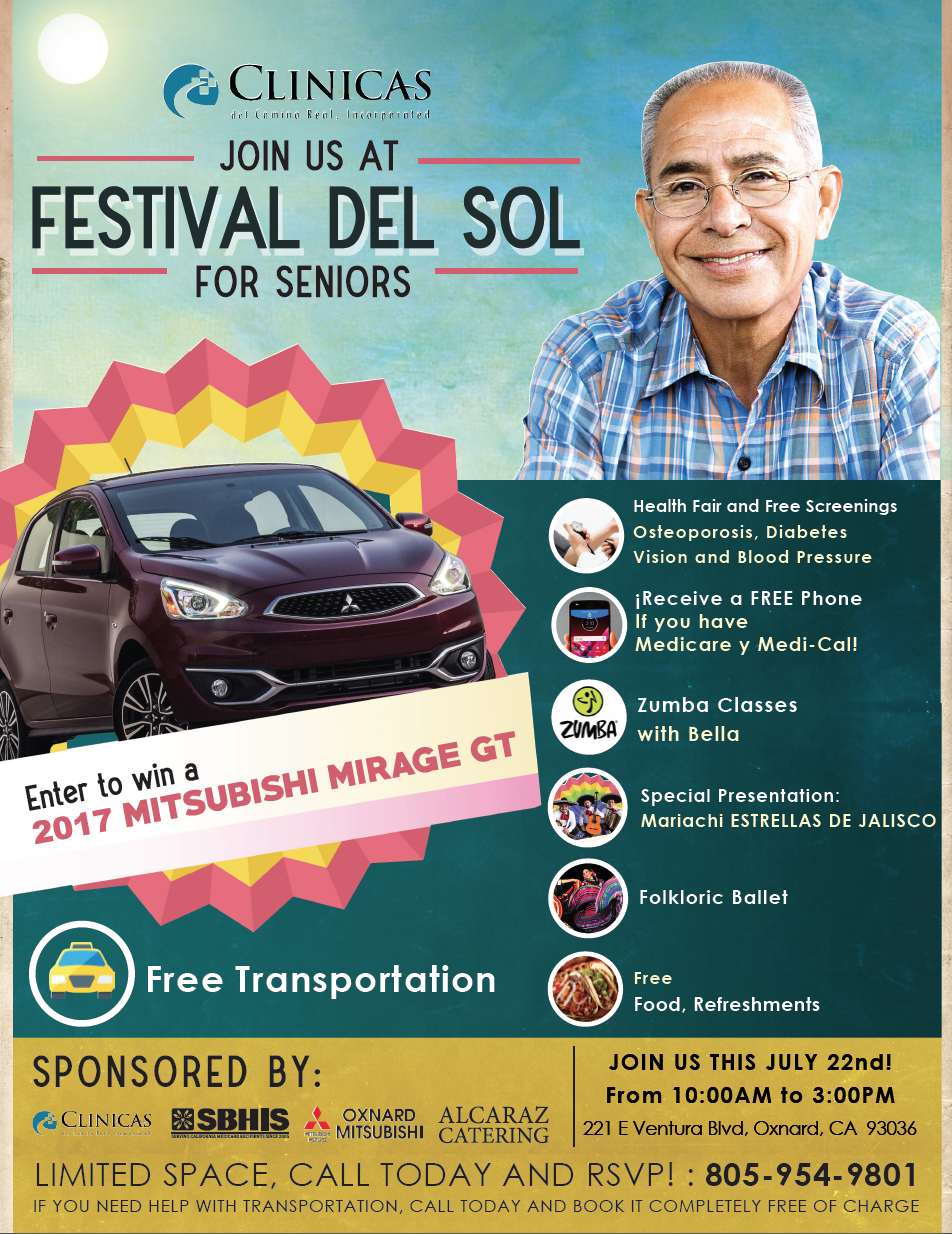 Bilingual report: Clinicas del Camino Real Inc. to host 'Festival del Sol' free health fair for seniors on July 22