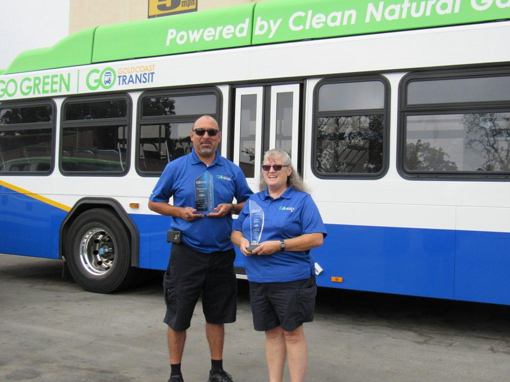 Three Gold Coast Transit District Operators Reach Prestigious Driving Milestones