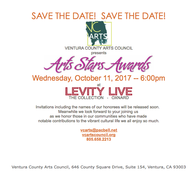Oct. 11 — Ventura County Arts Council presents Arts Stars Awards