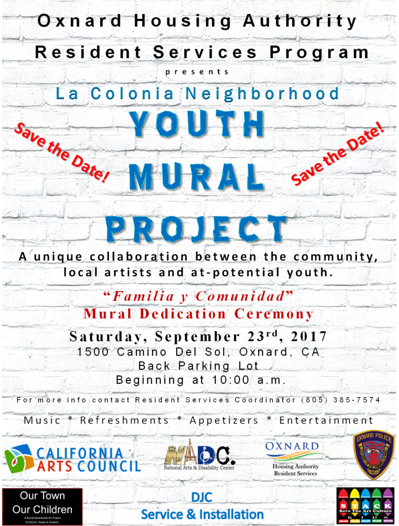 "Sept. 23 — Community is Invited to the Dedication Celebration of ""Familia y Comunidad"", A New Mural in La Colonia area of Oxnard!"