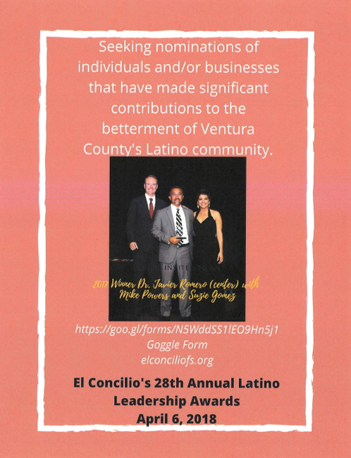 Dec. 1 nomination deadline approaching for El Concilio's 28th annual Latino Leadership Awards