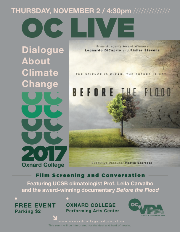 Nov. 2 — OC LIVE to present 'Dialogue About Climate Change'