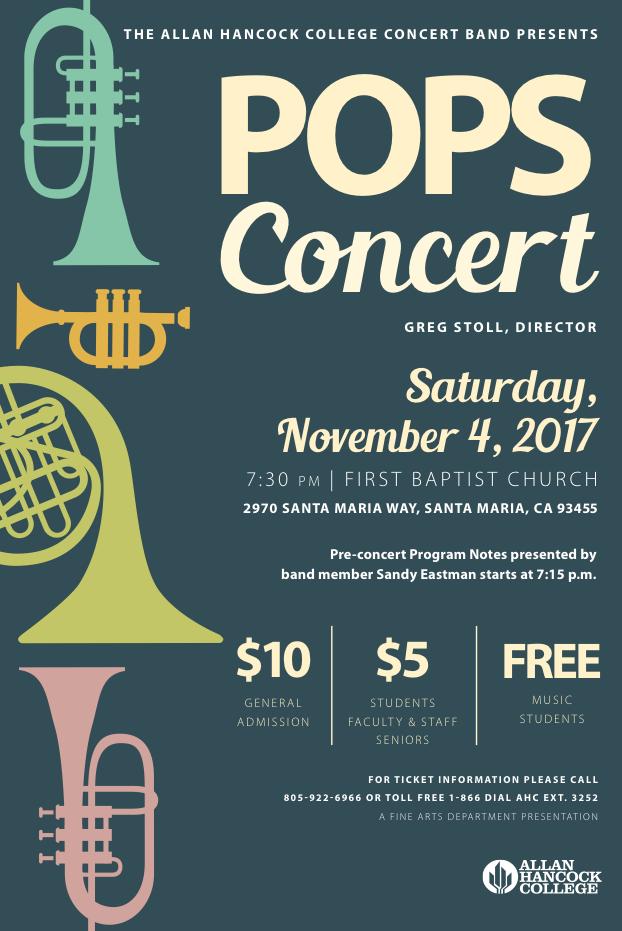 Nov. 4 — Allan Hancock Concert Band to present Pops Concert