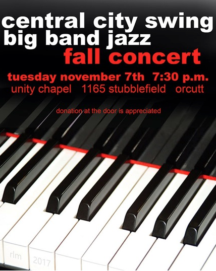 Nov. 7 — Central City Swing Big Band Jazz Fall Concert in Orcutt