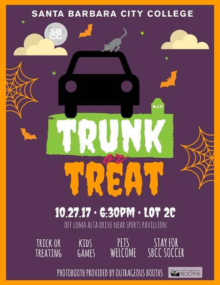 "Oct. 27 — Santa Barbara City College To Host ""Trunk or Treat"" Halloween Event for Children of the Community"