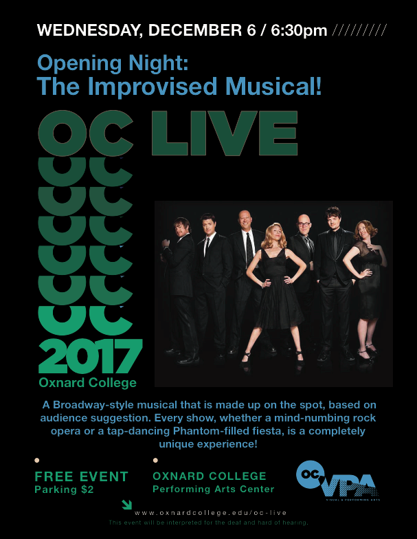 Dec. 6 — OC LIVE to present Opening Night: The Improvised Musical